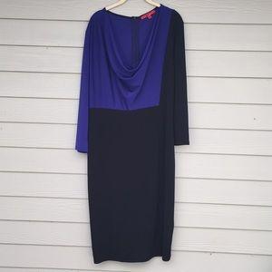 Midi color block dress